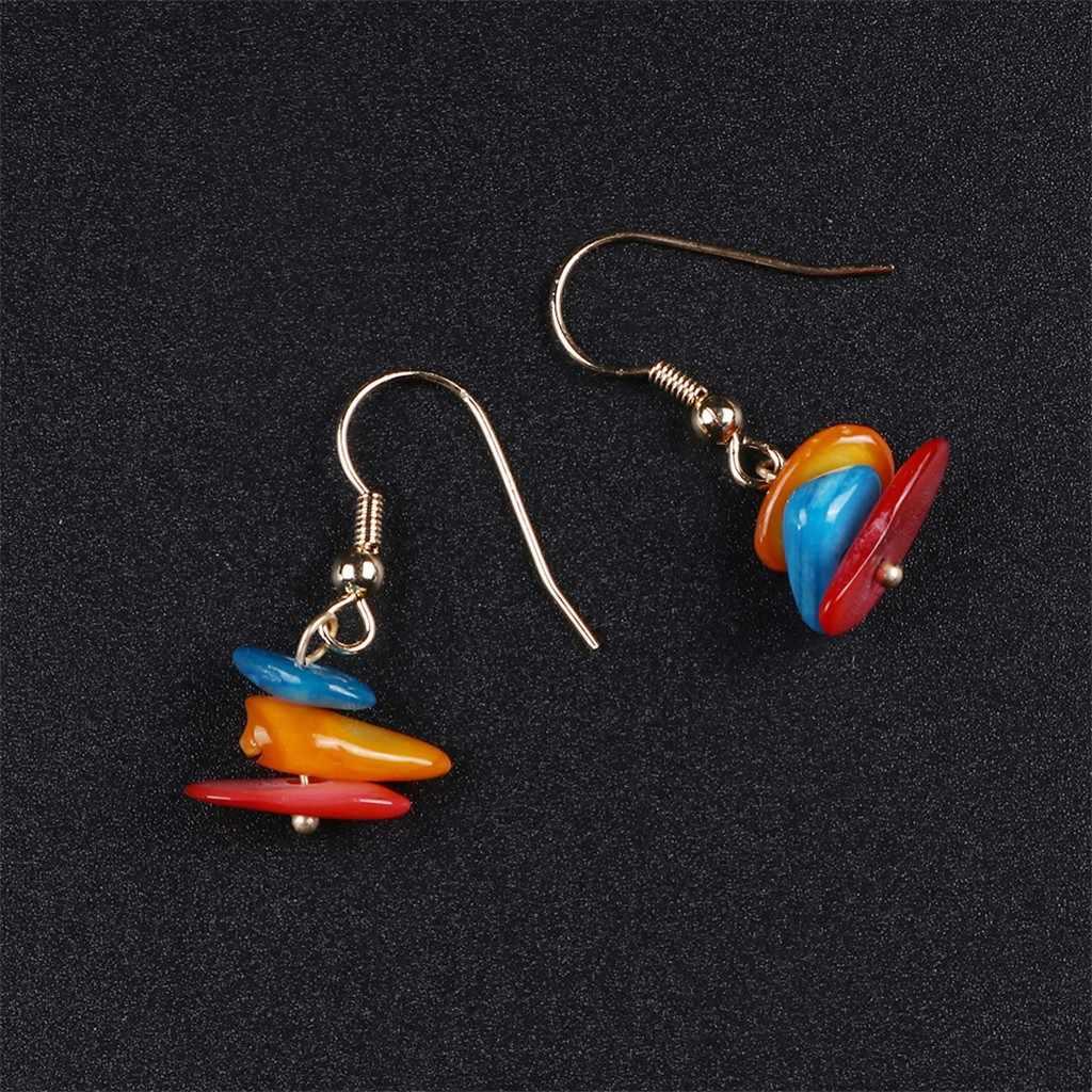 Mode européenne et américaine coquilles créatif Simple tissé à la main boucles d'oreilles bohème crochet boucles d'oreilles bijoux cadeau pendientes mujer # ZD