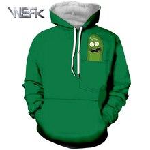 WSFK brand sports hoodie rick and morty clothing 3D printing Harajuku style casual mens long-sleeved