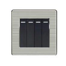 1 2 3 4 gang 2 way British Hong Kong Wall lamp Socket panel stainless steel switch 86 type 13A chint lighting switches 118 type switch panel new5d steel frame four position six gang two way switch panel