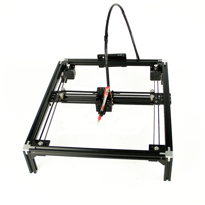DIY LY A4 A3 Drawbot Pen Guide Rails Drawing Robot Machine Lettering Corexy Frame Plotter Robot Kit For Optional Support Laser