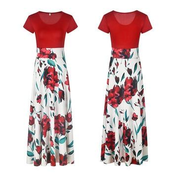 Fashion Casual Maxi Dress Plus Size Bohemian Print Vestidos Mujer Dress Boho Autumn Women Dress Elegant Long Dresses Vestido 5XL 5