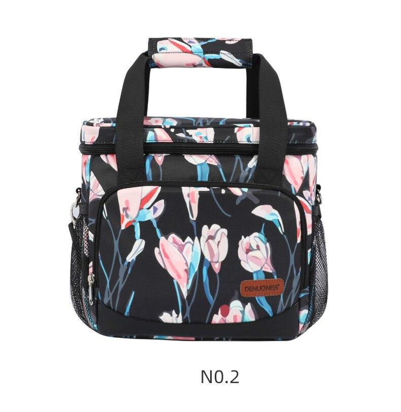 Denuoniss novo 2020 feminino impresso saco refrigerador