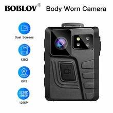 Boblov body camera m852 64g двойной экран gps hd 1296p камера