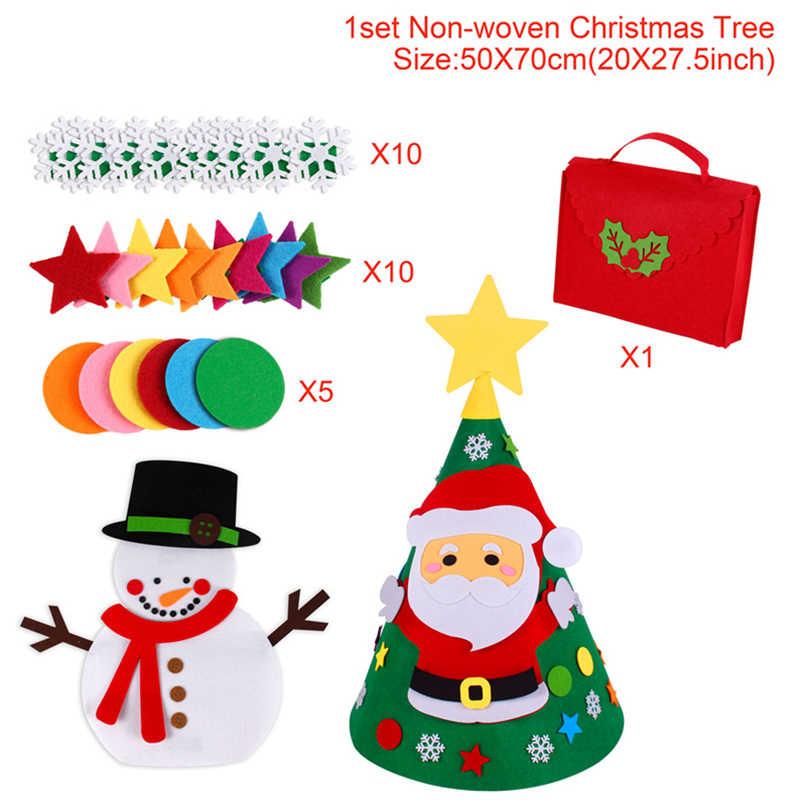 חדש שנה מתנות ילדים DIY הרגיש קישוטים לעץ קישוטי מתנות עבור 2019 חדש שנה של דלת קיר תליית קישוטים navidad