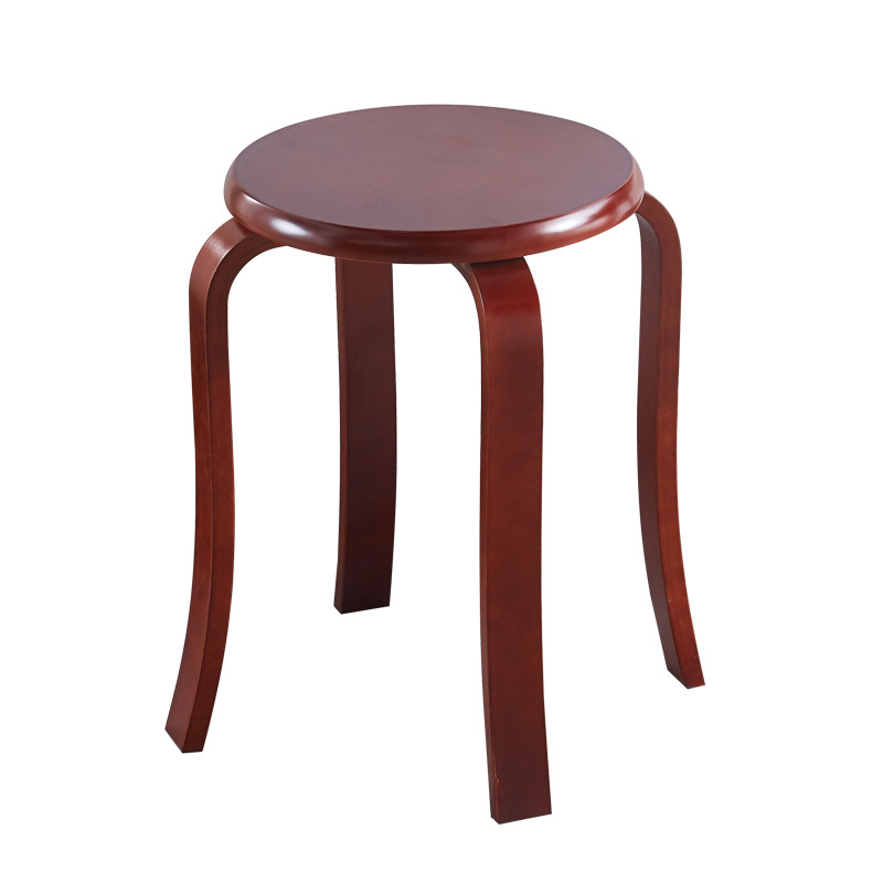 Simple Modern White Solid Wood Stools Multifunctional Home Living Room Furniture Solid Birch Wooden High Bench Small Round Stool
