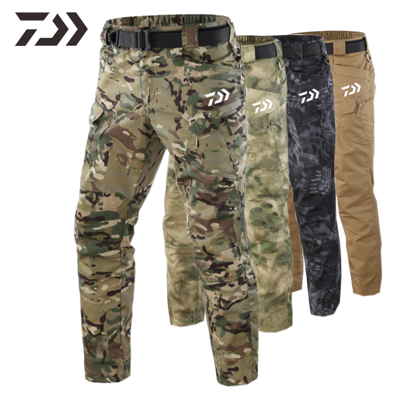 New Camouflage Pants Daiwa Breathable Casual Hunting Pants Spring Summer Fishing Pants Men's Sweatpants Hiking Trousers Sports