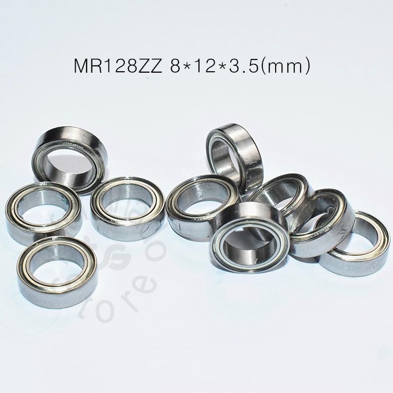 MR128ZZ 8*12*3.5(mm) 10pieces Free Shipping Bearing ABEC-5 Metal Sealed Miniature Mini Bearing MR128 ZZ Chrome Steel Bearing