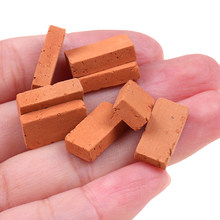 50 pçs 1/16 dollhouse simulação em miniatura tijolo diy mesa de areia paisagem argila
