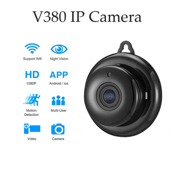 IP Camera Wifi Mini HD1080P Home Security Wireless Small CCTV Infrared Night Vision Motion Detection SD Card Slot Audio V380 APP