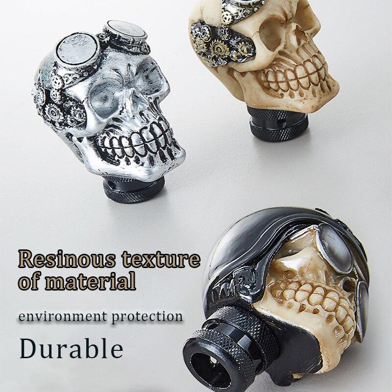 Personality modification Car Gear Shift Knobs Skull Head Gear Manual Transmission Gear Shift Knob Shifter Lever Modified Manual