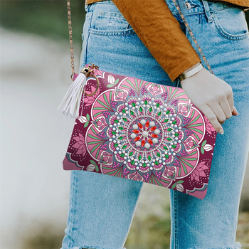 HUACAN 5D Special Shaped Diamond Painting Chain Bags Mandala DIY Diamond Embroidery Wallet Women Christmas