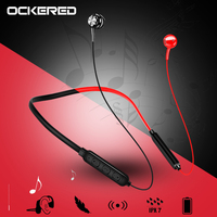 Auriculares inalámbricos con Bluetooth para teléfono móvil, auriculares magnéticos con banda para el cuello, auriculares estéreo inalámbricos para música