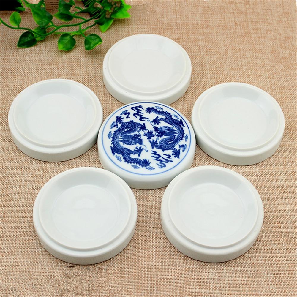 1 Pcs 5 L Ceramics Watercolor Palette Paint Tray Plastic For DIY Craft Professional Art Painting