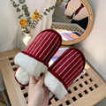 Women Fur Slippers Winter Warm Ladies Mules Slippers Home Indoor Plush fuzzy slippers comfortable furry slides House Shoes men