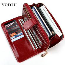 Women's Leather Wallet For Credit Card Female Coin Purse Fas