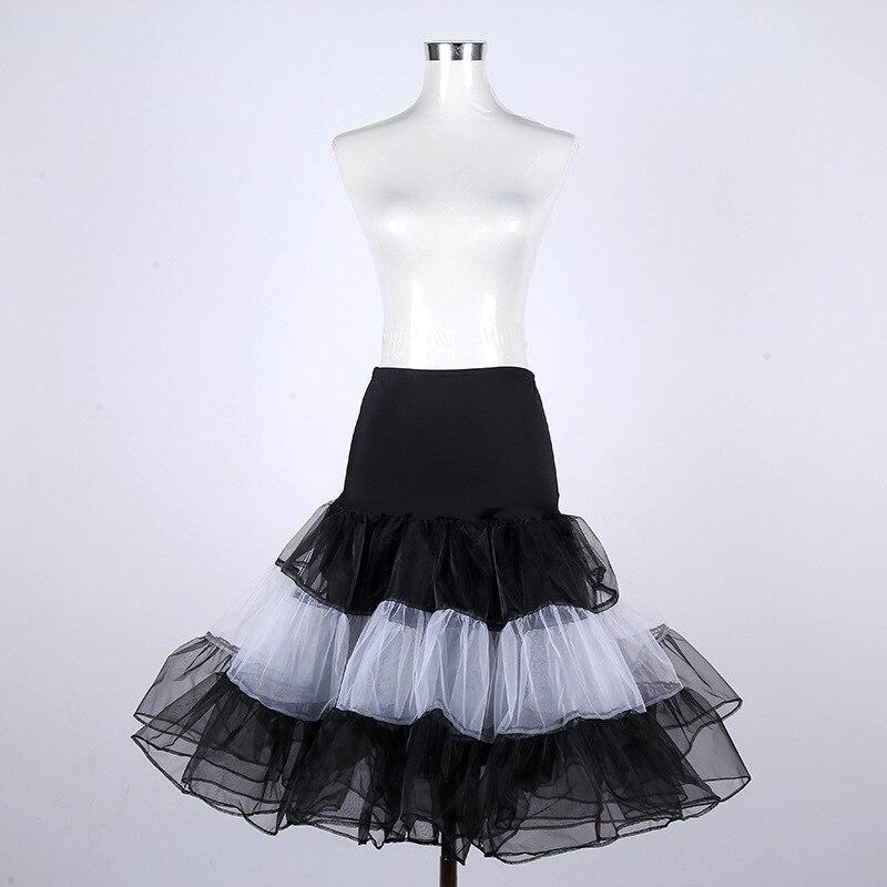 Mesh Skirt For Sweet Lace Elastic High-waisted Mid-length Puffy Mesh Skirt Sheath A- Line Customizable