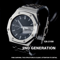 GA2100 Newest Watchband and Bezel For GA-2100 Watch Set Modification Watchband Bezel 100% Metal 316L Stainless Steel With Tools