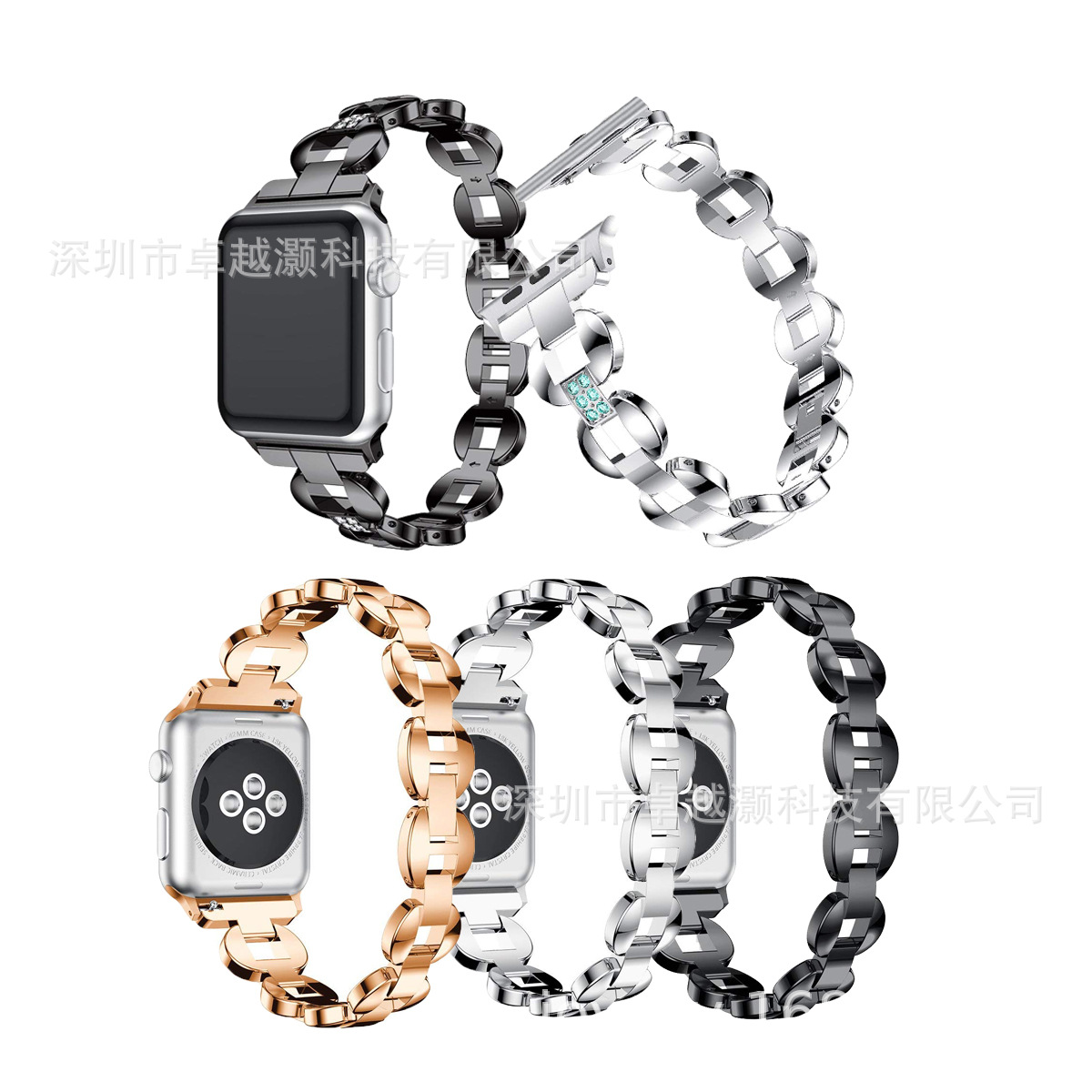 Suitable For Apple Smart Diamond Set Watch Band Apple Bucket Type With Diamond Watch Strap Manufacturers Direct Selling New Styl