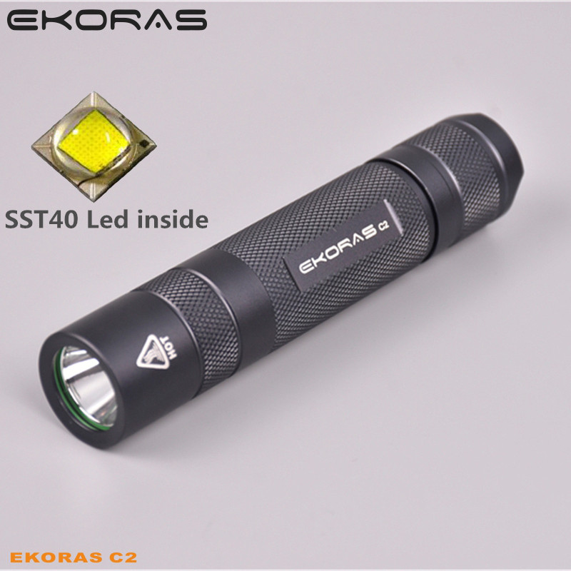 Gray Ekoras C2  S2+ With Luminus Sst40 ,copper DTP Board And Ar-coated Inside, Temperature Protection Management, Up To 1000lm