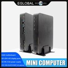 EGLOBAL мини игровой ПК I7 8700 i5 9400F GTX1050TI 4G Nvidia GPU Win10 Pro Barebone Nettop Linux настольный компьютер WiFi 2 * HDMI2.0