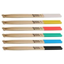 1 пара 7A/5A прочные барабанные палочки силиконовые легкие барабанные палочки противоскользящие каплевидные треугольные черепа для барабана музыкальный инструмент