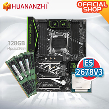 HUANANZHI X99 F8 X99 Motherboard with Intel XEON E5 2678 V3 with 4*32G DDR4 RECC memory combo kit set SATA 3.0 USB 3.0