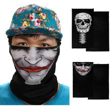 Neue Radfahren Motorrad Neck Rohr Ski Schal Gesicht Maske Balaclava Halloween Cosplay Partei kostüm maske Winter Outdoor Fleece Maske(China)
