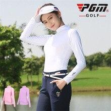 PGM Для женщин футболка для гольфа спортивная одежда с длинным рукавом, Солнце Защита футболки для гольфа An-УФ дышащий прохладный шелк женская одежда для гольфа