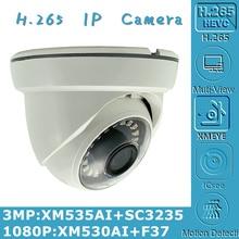 3MP 2MP H.265 IPเพดานโดมกล้องในร่ม2304*1296 XM535AI + SC3235 1080P XM530 + F37 Onvif CMS XMEYE IRC P2P Motion Detection