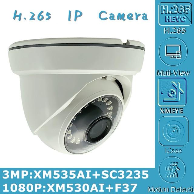 3MP 2MP H.265 IP потолочная купольная камера для помещений 2304*1296 XM535AI + SC3235 1080P XM530 + F37 Onvif CMS XMEYE IRC P2P датчик движения