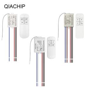 Image 2 - QIACHIP 1/2/3 Way Relay AC 220V RF Remote Digital Wireless Remote Control Switch Ceiling Fan Panel Control Switch For Light Bulb