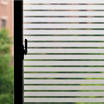 LUCKYYJ Frosted Decorative Window Film Wide Stripe No Glue Static Cling Vinyl Window Cover Door Glass Cling for Home Office custom window film static glass film sliding door closet door decorative film birds translucent flowers frosted glass stickers