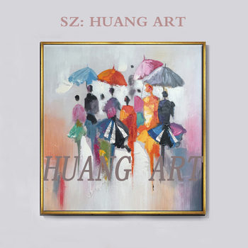 Handmade Abstract Figure Oil Painting Canvas Art Modern Palette Knife Canvas Oil Paintings Living Room Wall Decoration Pictures