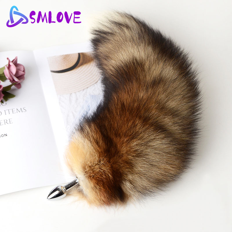 Separable Anal Plug Real Fox Tail Cosplay Butt Plug Anal Sex Tail Adult Products Anal Sex Toys for Woman Couples Men Sexy Shop|Anal Plug|   - AliExpress