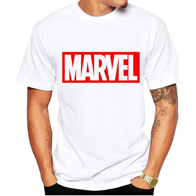 LUSLOS Nieuwe heren T-shirts Katoen Wit Zwart Korte Mouwen T-shirts Casual Marvel Print Cool T-shirt Man Tops Oversized Menswear