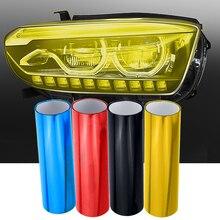 1 шт. 30 см х 60 см лист автомобильной пленки, стикер для тонировки автомобиля, светильник задняя фара туман светильник, противотуманный светильник, покрытие для стайлинга автомобиля