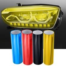 Pegatina de lámina autoadhesiva para faros delanteros y faros delanteros, luz antiniebla, 1 unidad de 30cm x 60cm, decoración para coches