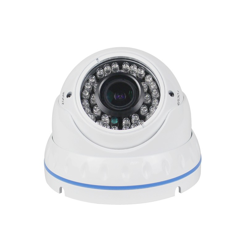 4xZoom Manual AHD Dome Security Camera 2MP 4MP Indoor 2.8-12mm Varifocal AHDTVICVICVBS 4 IN 1 Analog Infrared CCTV Cameras 1