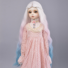bjd white ramones t shirt outfits top clothing for male 1 4 1 3 sd17 70cm 17 24 tall bjd doll msd sd dk dz aod dd doll use Aidolla Doll Wigs Heat Resistant Wire Long Deep Curly White Pink Blue Color Hair for 1/3 1/4 1/6 BJD/SD Dolls