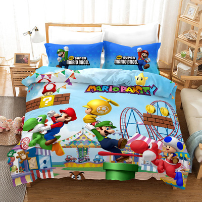 High Quality Super Mario Bros. Duvet Cover Set Bed Set Kawaii Cartoon Bedding Set Full Size For Girls Boys Bedroom Home Decors