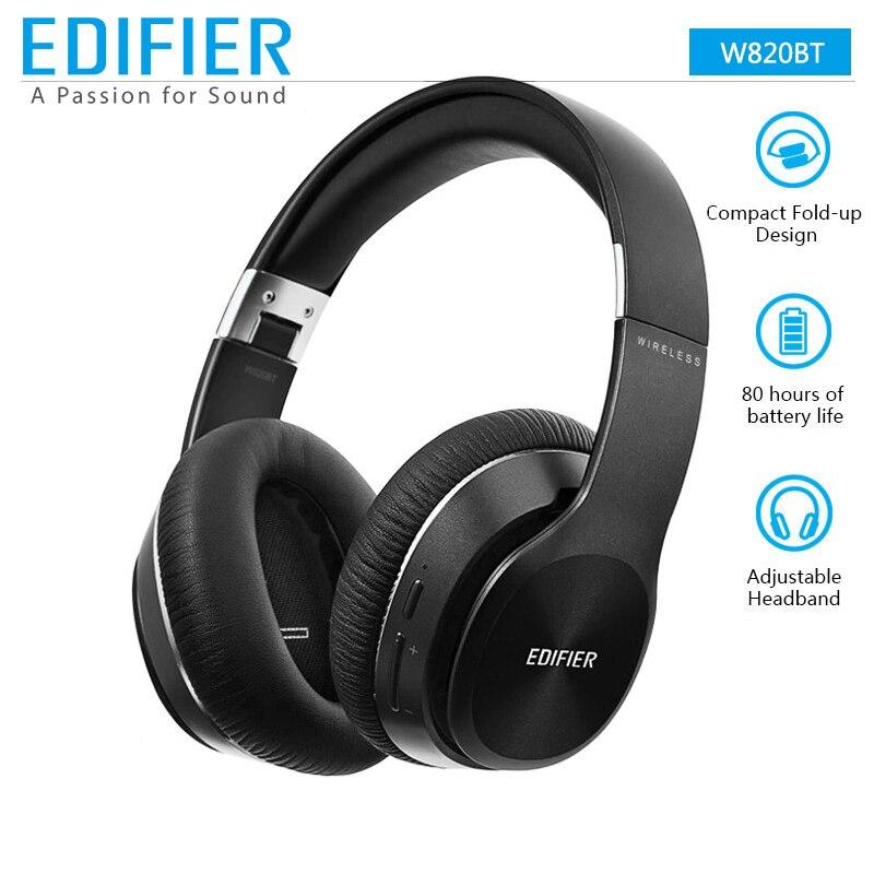 EDIFIER W820BT Bluetooth наушники Беспроводной накладные Шум изоляции CSR Технология до 80 часов Время в режиме воспроизведения складывается легко