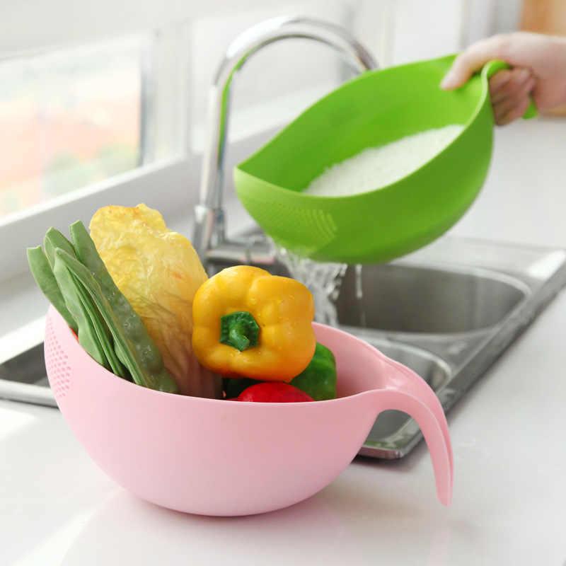 Food Grade Plastic Arroz Ervilhas Feijão Verde Rosa Cor de Lavagem de Filtro Coador Peneira Cesta Escorredor Dispositivo de Limpeza