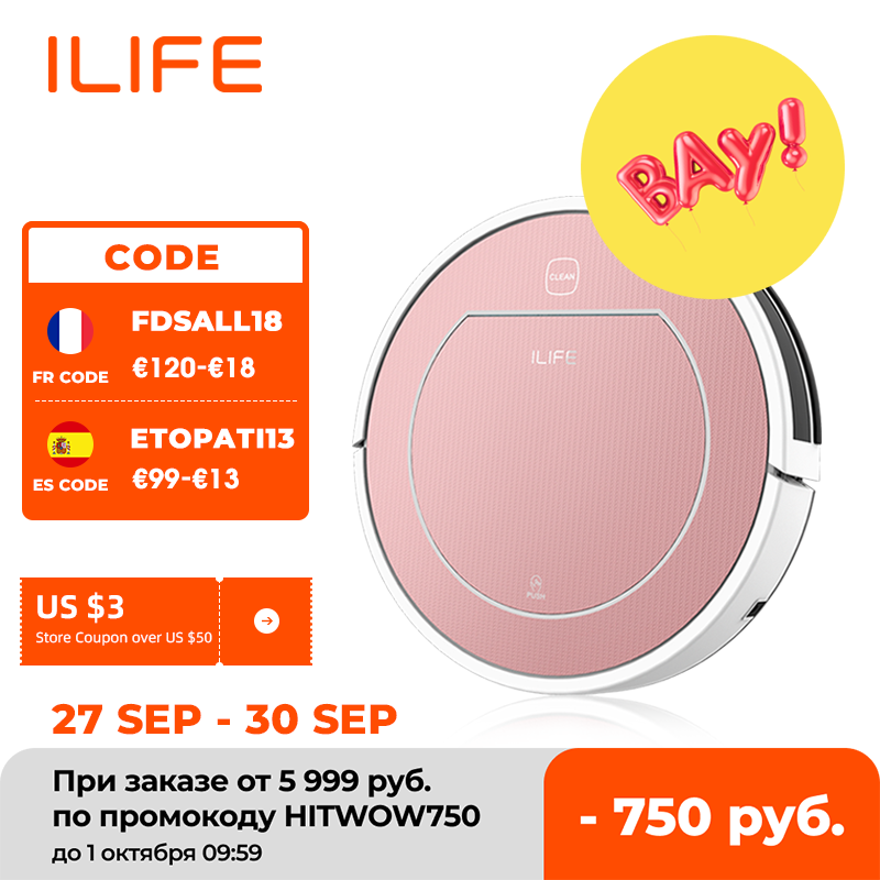 ILIFE V7s Plus Robot Vacuum Cleaner Sweep and Wet Mopping Floors&Carpet Run 120mins Auto Reharge,Appliances,Household Tool Dust robot vacuum cleaner vacuum cleanerrobot vacuum - AliExpress
