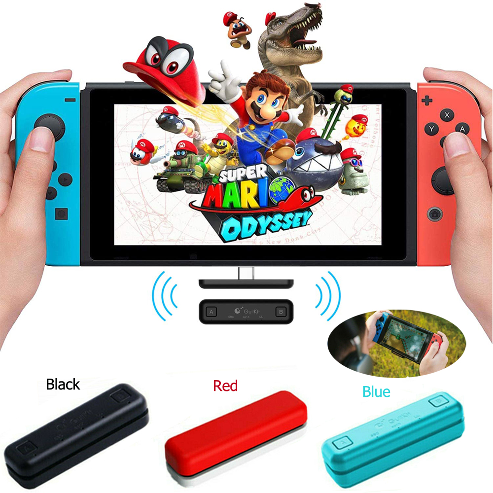Route Air Switch Bluetooth Adapter Wireless Audio Transmitter w APTX Low Latency Compatible For Nintendo Switch  amp  Switch Lite