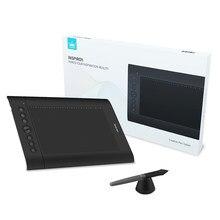 Huion h610pro v2 digital tablet gráficos 8192 níveis de desenho tablet bateria-livre caneta tablet com otg pc/android ferramentas de pintura