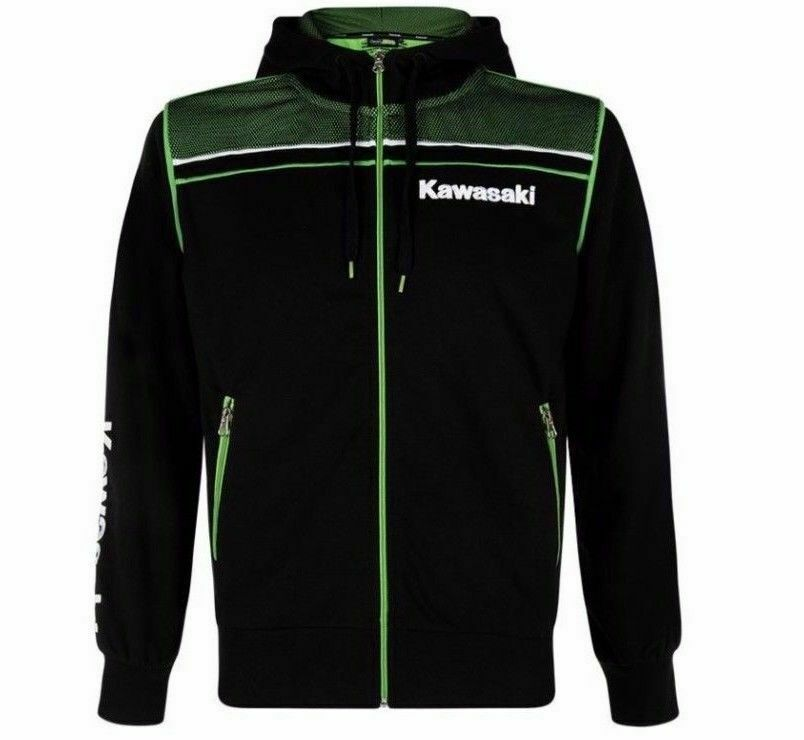 2020 New Knight Hoodies Winter For Kawasaki Motocard Team Motorcycle Hoody Black/Green Zip Up Hoodie Fleece Clothing Jacket Men