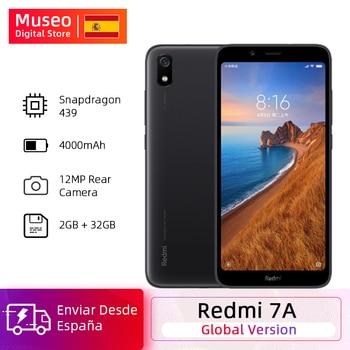 Перейти на Алиэкспресс и купить Глобальная версия Xiaomi Redmi 7A 7 A 2 ГБ 32 ГБ 5,45 дюймВосьмиядерный Snapdargon 439 мобильный телефон 4000 мАч 12MP камера смартфон