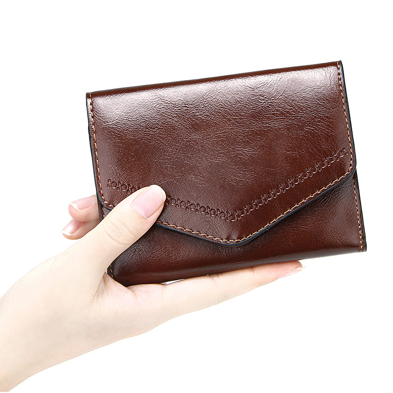 Envelope Wallet Women Coin Purse Women's Clutch Money Bags Pu Leather Trifold Short Portable Bank Credit Card Holders Ladies