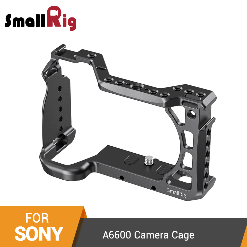 SmallRig A6600 Camera Cage For Sony A6600 Dslr Cage With Cold Shoe And Arri Locating Holes Tripod Shooting Cage Accessory -2493