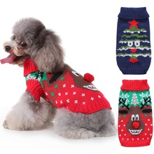 Cute Dog Cat Pet Clothes Christmas Puppy Sweater Coat Soft Warm Pet Jackets Autumn Winter Dog Knitting Outfits For Small Medium Dogs Cat Chihuahua hipidog sheep pattern coral velvet parkas pet dog pants autumn winter thicken warm jumpsuit for chihuahua small dogs cat clothes